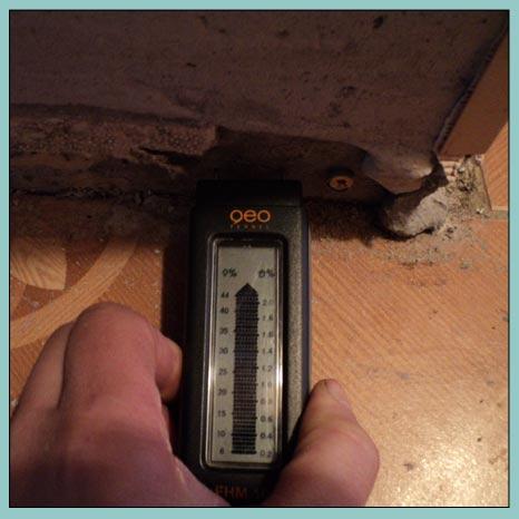 замер влажности бетона